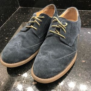 Calvin Klein Men's Suede Oxford Navy (Size 9.5)